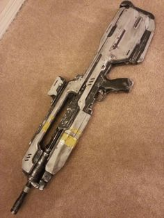 Halo 4 Battle Rifle (finished). $250.00, via Etsy.