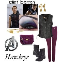 @madisonrindahl Just wear purple pants, a black shirt, combat boots, and you have created the perfect Hawkeye outfit!