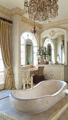 Old world bathroom [in case you ever have a castle. jh]