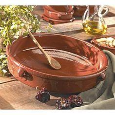 Food in Terracotta Dishes | ... Kitchen & Table / Cazuelas Dishes / 15 Inch Cazuela - Terra Cotta Dish