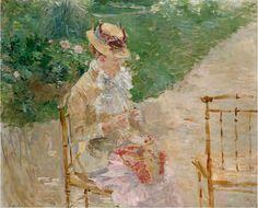 Jeune femme au tricot par Berthe Morisot, vers 1883 Metropolitan Museum New York