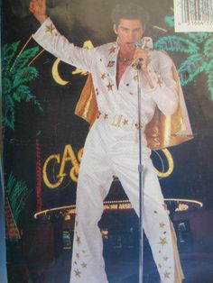 See Sally Sew-Patterns For Less - Elvis Presley Jumpsuit Cape Costume Butterick 6946 Pattern Sz. 30 - 32, $18.00 (http://stores.seesallysew.com/elvis-presley-jumpsuit-cape-costume-butterick-6946-pattern-sz-30-32/)