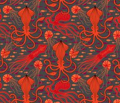 Tangled Red (Large) fabric by heleen_vd_thillart on Spoonflower - custom fabric