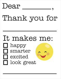 Free printable Fill in the blanks thank you note makes it super easy for little kids to show their gratitude. With tips on how to get kids to write thank you cards.