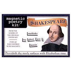 Magnetic Poetry - Shakespeare kopen? Bestel bij fonQ