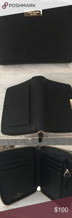 """Brand new Kate Spade wallet The """"Darci"""" black leather kate spade Bags Wallets"""