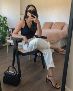 Chic Summer Outfits, Classy Outfits, Spring Summer Fashion, French Chic Outfits, Minimal Outfit, Minimal Fashion, Mode Outfits, Fashion Outfits, Effortlessly Chic Outfits