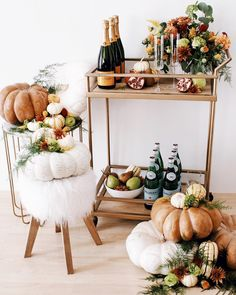 pumpkin bar cart