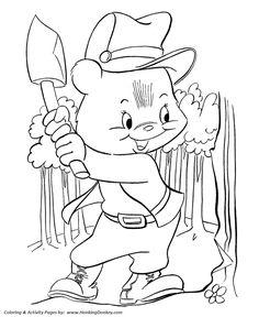 teddy bear coloring pages lumberjack bear
