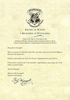 Receba sua carta de Hogwarts! - Cultura & Próxima Leitura