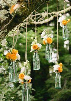 11 dicas criativas para transformar garrafas de vidro em vasos | MdeMulher