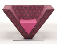 Original design armchair by Karim Rashid - PYRAMID - Nienkamper