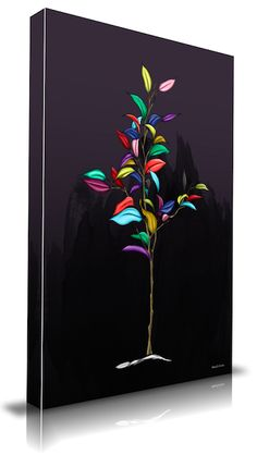 Maxwell Dickson Canvas TREE OF COLOR