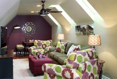 teen lounge idea. Maybe a different color scheme and larger