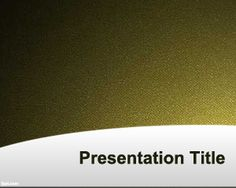 Classical PowerPoint Template is a free but simple template with yellow background and some noise in the slide design that you can use for any presentation