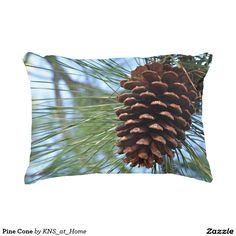 Pine Cone, 2 sided design, customizable Decorative throw pillow
