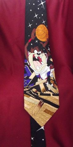 Sold!! #Tasmanian #Devil #Basketball #Looney Tunes Cartoons Men's Silk Neck Tie 1996.