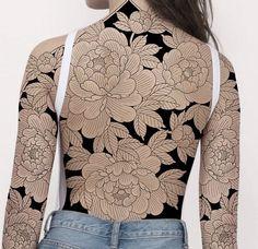 Upper Thigh Tattoos, Flower Thigh Tattoos, Back Tattoos, Sexy Tattoos, Body Art Tattoos, Girl Tattoos, Sleeve Tattoos, Irezumi Tattoos, Mangas Tattoo