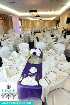 Ivory And Purple Wedding Decor Hydrangea Centerpieces With Roses Centerpiece Short