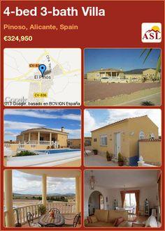 4-bed 3-bath Villa in Pinoso, Alicante, Spain ►€324,950 #PropertyForSaleInSpain
