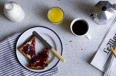 black coffee blueberry jam