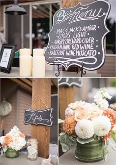 A Chalkboard Sign Wedding - The Wedding Chicks