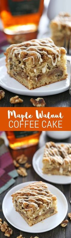 We LOVED this coffee cake! Super quick & easy perfect recipe for fall entertain We LOVED this coffee cake! Super quick & easy perfect recipe for fall entertaining! Made with Source by natashaskitchen Breakfast Bake, Best Breakfast, Breakfast Recipes, Breakfast Casserole, Breakfast Ideas, Maple Syrup Recipes, Walnut Recipes, Köstliche Desserts, Delicious Desserts