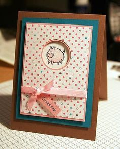 Stampin Up Very Punny using circles as a window punch