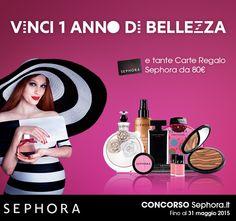 Vinci 1 anno di bellezza e tante Carte Regalo Sephora : http://www.gioco-sephora.it/?prov=pinterest