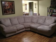 Cream Sofa/Sectional in ShellyandJohn's Garage Sale in Edmond , OK for $500.00. Beautiful sectional ... but it won't work in my new house. Paid 1000 new about 5 years ago. Looks great ... zipper is broken on middle cushion, one foot needs to be sanded down so it doesn't scratch your floor or snag your carpet.