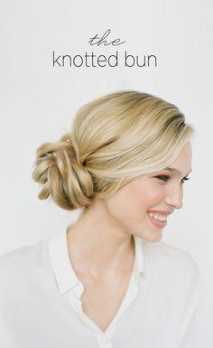 DIY Knotted Bun Wedding Hairstyle