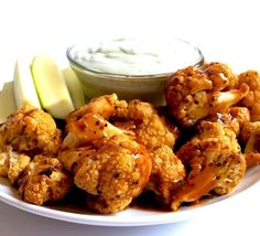 Healthy Buffalo Cauliflower Wings (Vegan, Gluten-Free, Paleo)