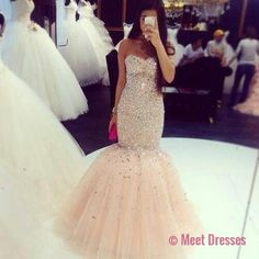 Prom Dresses,Tulle Prom Dress,Sexy Prom Dress,Mermaid Prom Dresses,2018 Formal Gown,Beading Evening Gowns,Beaded Formal Dress,Prom Gown For Teen PD20184975
