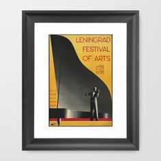 Leningrad Festival Of The Arts c.1935 Framed Art Print by Kathead Tarot - $36.00