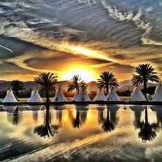 The scene for the Lake Eldorado campsite at #Coachella is pretty peaceful, wouldn't ya say? - @coachella- #webstagram