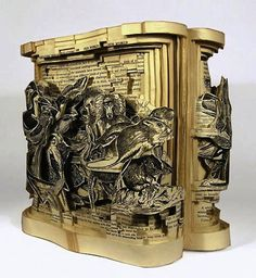 Four Brilliant Book Sculpture Artists.          Brian Dettmer