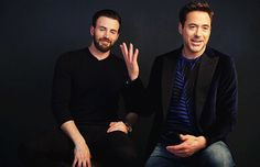 RDJ and Chris Evans have such a great friendship in real life - they've both said they hate fighting onscreen.