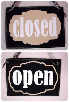 new buiness? cricut open and closed sign