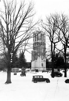 What am amazing picture! Beaumont Tower, Michigan State Univ., East Lansing, MI under construction in 1928.