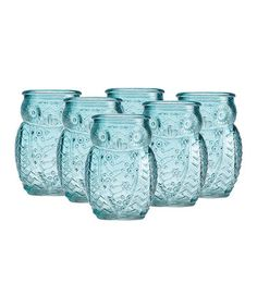 This Blue Owl Shot Glass - Set of Six is perfect! #zulilyfinds