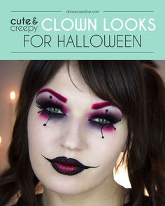 Considering a classic for this Halloween? Clowns come in all shapes, sizes, and degrees of horror. Check out these clown makeup looks that run the gamut. #halloween #costume