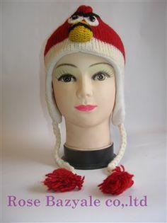 Woolen Animal Hand Made knitt hat Red Angry Bird