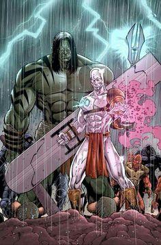 Skaar - Son of Hulk & Silver Surfer Comics Anime, Marvel Comics Art, Hulk Marvel, Marvel Comic Books, Marvel Heroes, Comic Books Art, Comic Art, Captain Marvel, Avengers