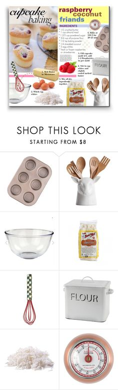 """""""Cupcake Baking - Raspberry Coconut Friands!!"""" by watereverysunday ❤ liked on Polyvore featuring interior, interiors, interior design, home, home decor, interior decorating, MacKenzie-Childs and baking"""