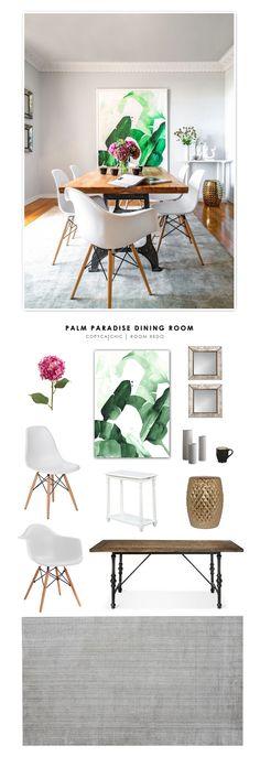 Copy Cat Chic Room Redo | Palm Paradise Dining Room