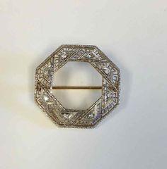 Diamond Filigree Pin in 14 Karat Yellow Gold by PattyHansenGallery, $475.00