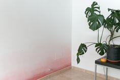 "pintar una pared con degradado, visto en ""I am a Mess Blog"""