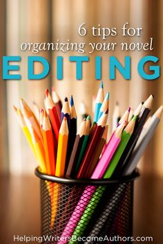 6 Tips for How to Organize Your Novel's Edits