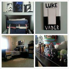 big kid room for a mini Star Wars fan.
