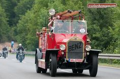 Das Benz Gaggenau Feuerwehrauto von 1925 am Solitude Revival 2015 in der Gruppe «Corso Classico».